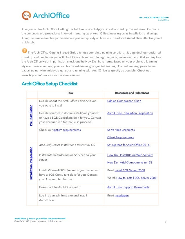 Archioffice Getting Started Guide 2016