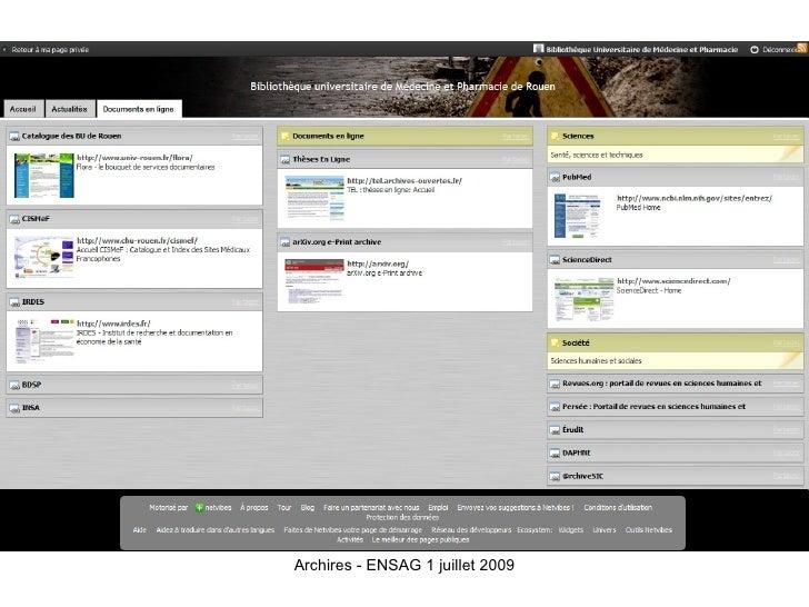 Archires - ENSAG 1 juillet 2009