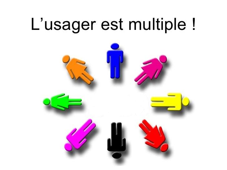 L'usager est multiple !            Archires - ENSAG 1 juillet 2009