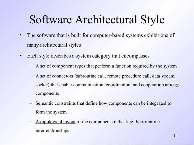 Architec design introduction for Main architectural styles