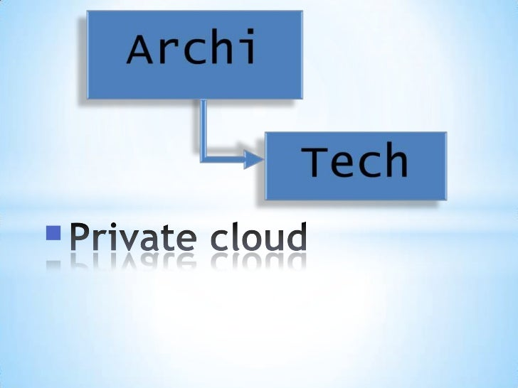 Private cloud<br />