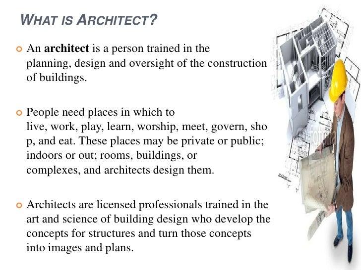 Architect presentation