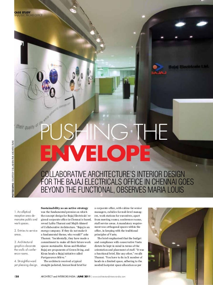 Bajaj Corporate Office Architect And Interiors India