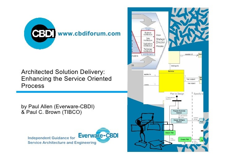 www.cbdiforum.com     Architected Solution Delivery: Enhancing the Service Oriented Process   by Paul Allen (Everware-CBDI...