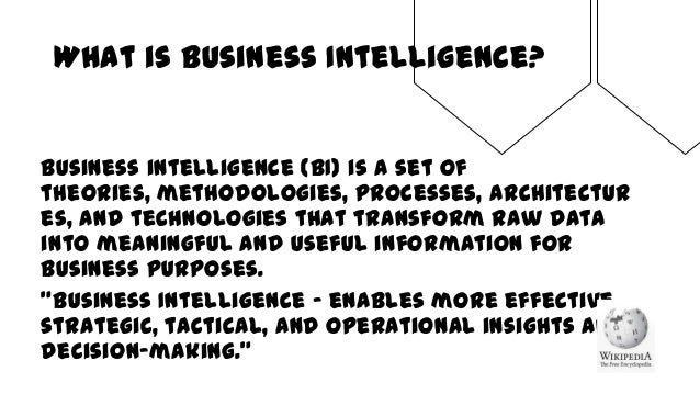 Architecting business intelligence system