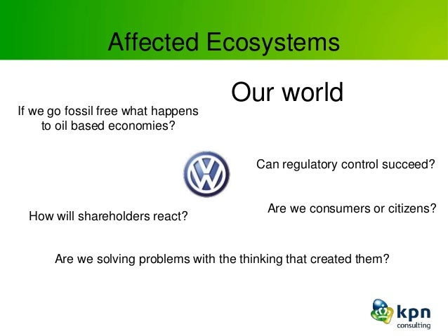 Affected Ecosystems Our world Can regulatory control succeed? Are we consumers or citizens? Are we solving problems with t...