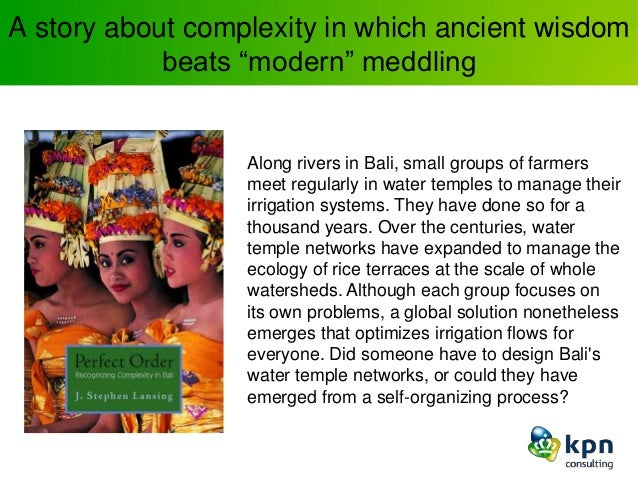"""A story about complexity in which ancient wisdom beats """"modern"""" meddling Along rivers in Bali, small groups of farmers mee..."""