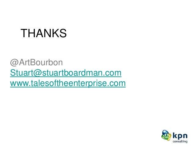 @ArtBourbon Stuart@stuartboardman.com www.talesoftheenterprise.com THANKS