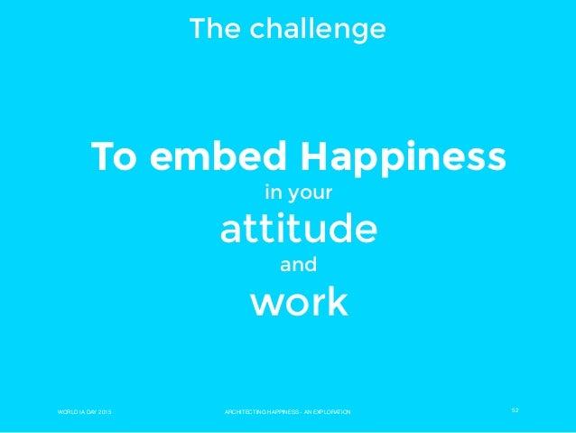 Architecting happiness. English version of Barcelona WIAD