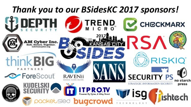 Thank you to our BSidesKC 2017 sponsors!