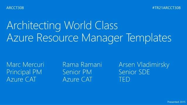 AZURE RESOURCE MANAGER API