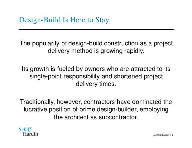 ... 2. Design Build ...