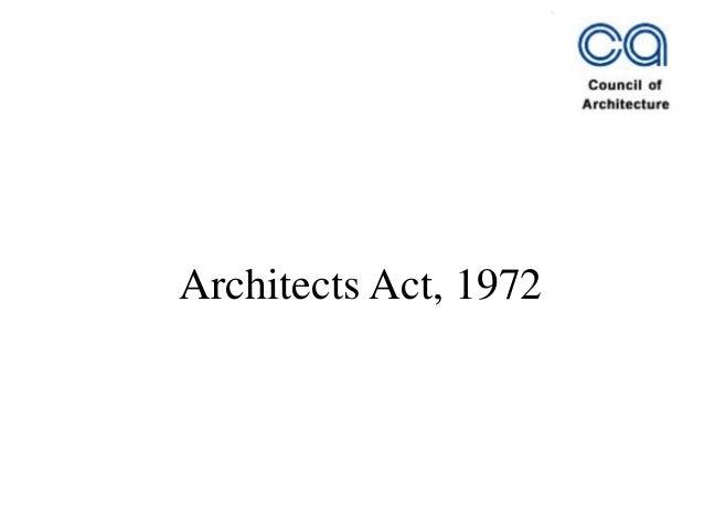 Architects Act, 1972