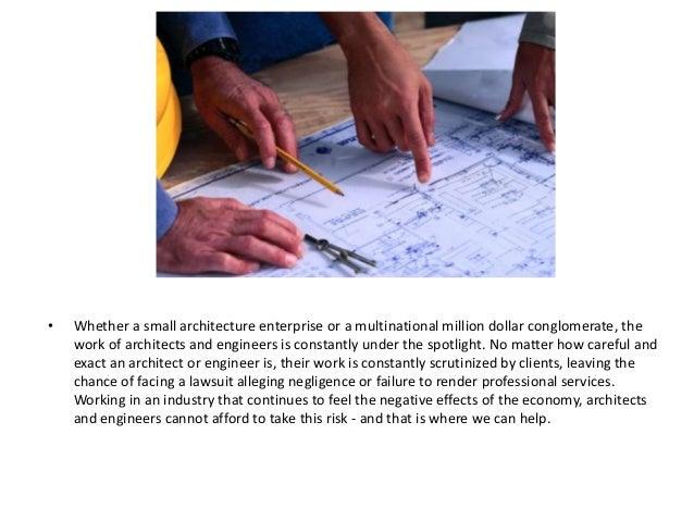 Architects professional liability Slide 2