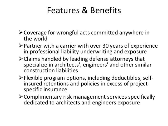 Architects professional liability Slide 3