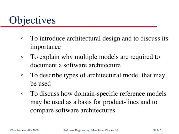Awesome Objectives U003culu003eu003cliu003eTo Introduce Architectural Design ...