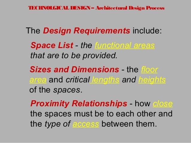 9. TECHNOLGICAL DESIGN U2013 Architectural Design Process The Design  Requirements ...