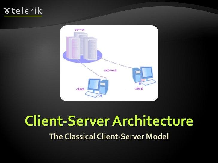 Client-Server Architecture The Classical Client-Server Model