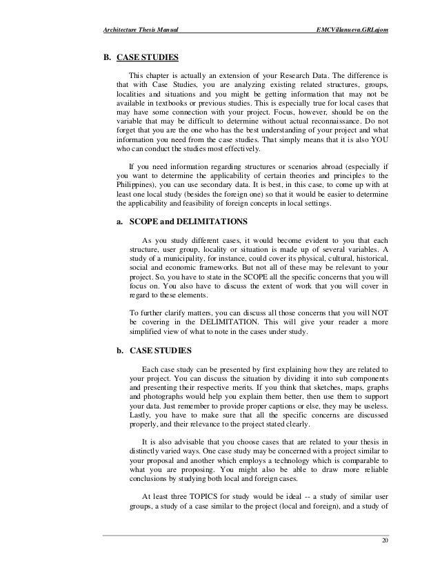 Dissertation methodology case studies