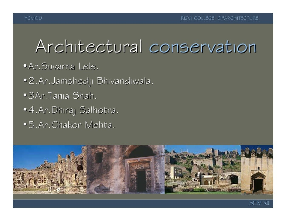 Architectural Conservation