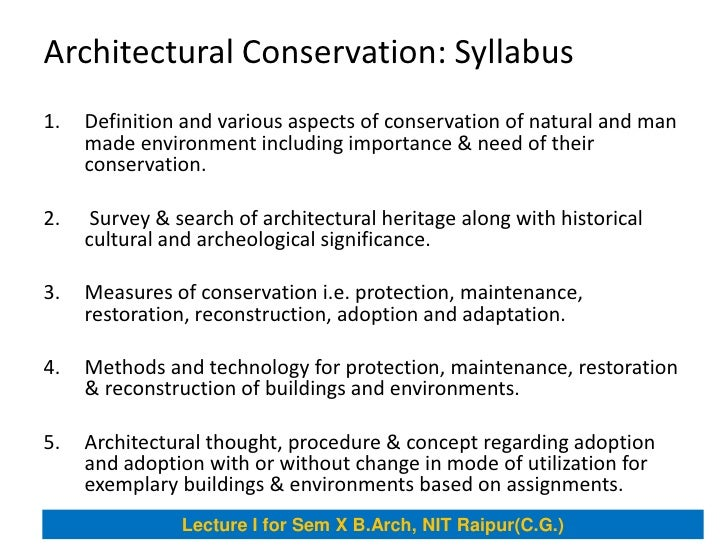 Architectural conservation for Anarchitecture definition