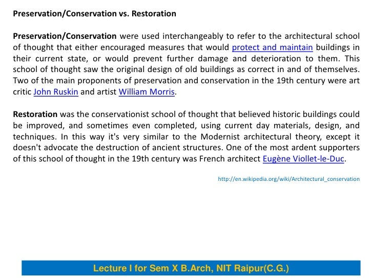 Architectural conservation for Architecture definition wikipedia