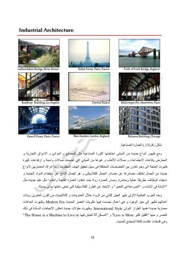 51 رقم شكل(13.)الصناعية العمارة. و التجارية االسواق و الموانئ و المصانع مثل الصناعية الثورة ا...