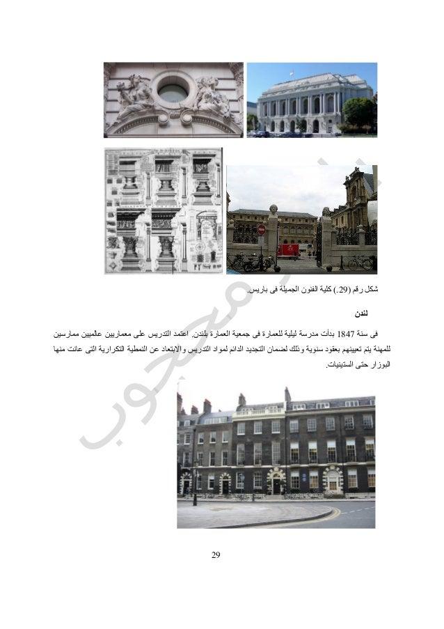 29 رقم شكل(29.)الجميلة الفنون كليةفىباريس. لندن سنة فى5149بلندن العمارة جمعية فى للعمارة لي...