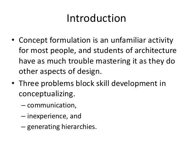 Architecture Design Concepts architectural design concepts approaches