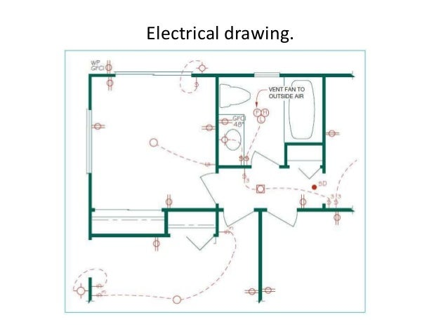 architectural drawings, Wiring electric