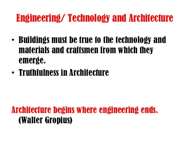 Engineering Technology And Architecture