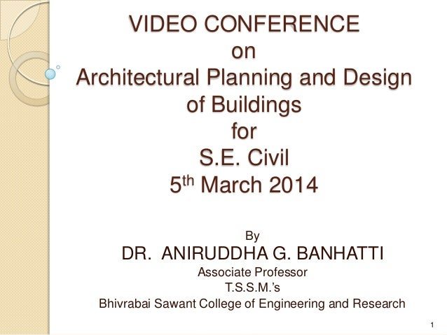 By DR. ANIRUDDHA G. BANHATTI Associate Professor T.S.S.M.'s Bhivrabai Sawant College of Engineering and Research VIDEO CON...