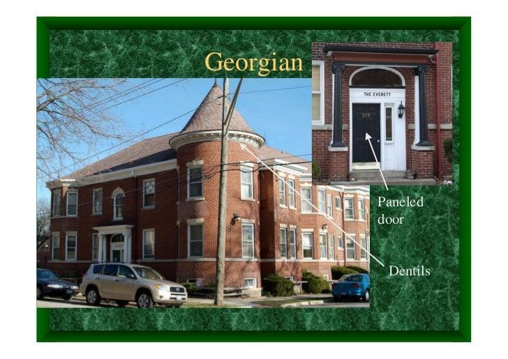Georgian           Paneled           door            Dentils