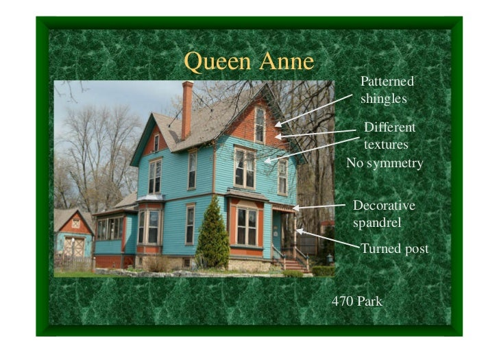 Queen Anne                 Patterned                 shingles                 Different                 textures          ...
