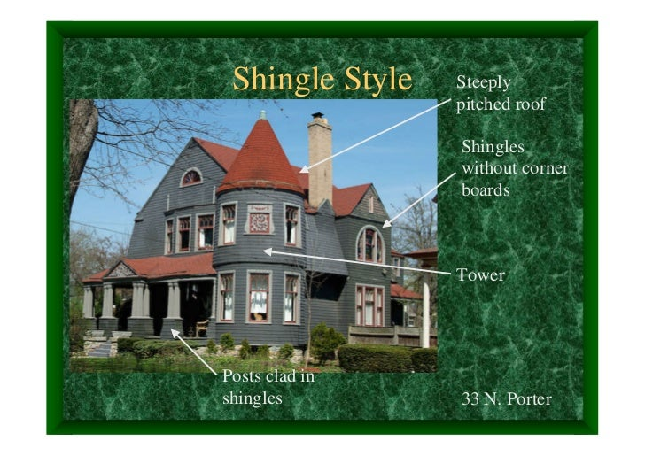 Shingle Style   Steeply                 pitched roof                 Shingles                 without corner              ...