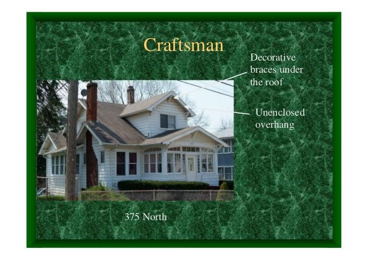 Craftsman   Decorative                braces under                the roof                 Unenclosed                 over...