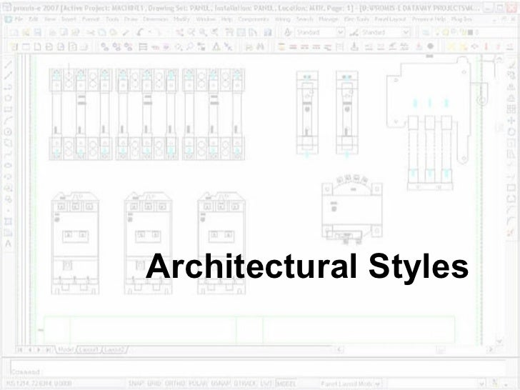 Architectural styles for Current architectural styles