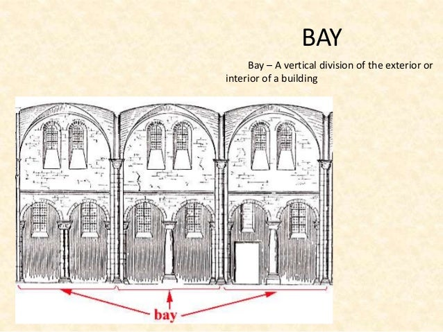 Architectural terms 1 - Bay architecture ...