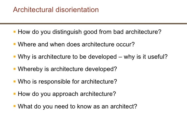 What Do You Need To Be An Architect architectural thinking - what is architecture?