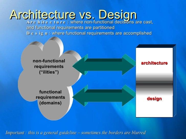 Architecture Vs. Design Non Functional Requirements ...