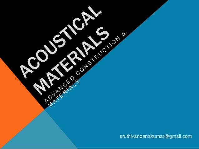 Architecture Acoustical Materials