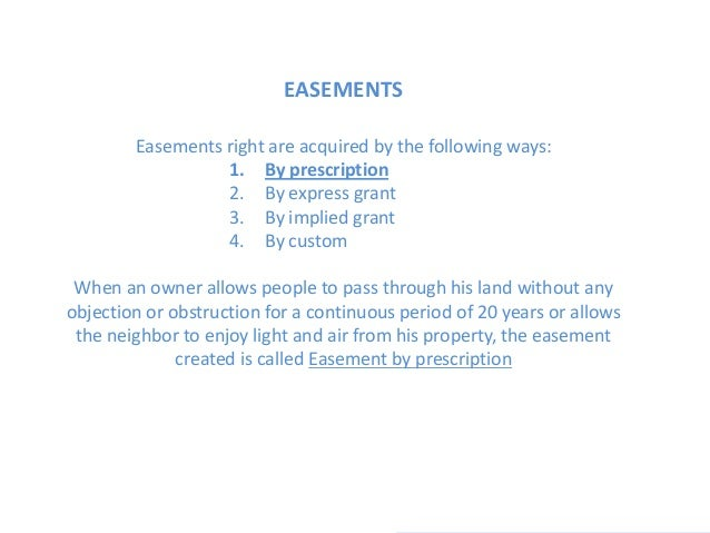 Architecture- easements and valuations Slide 3
