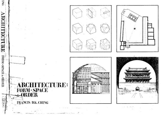 architecture form space and order 1st ed