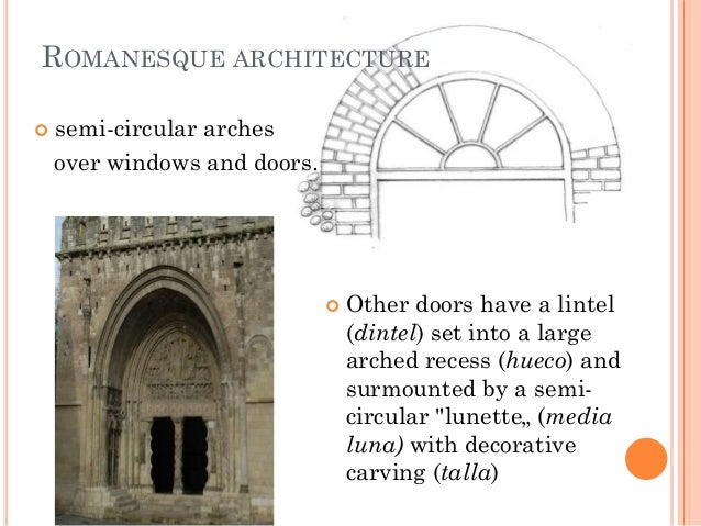 romanesque architecture terms