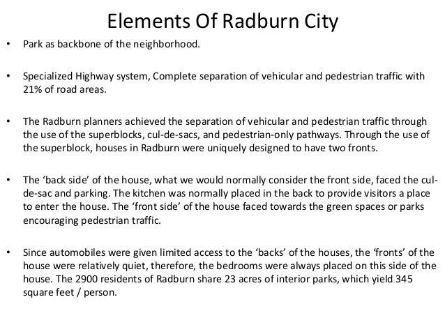 Radburn, New Jersey; 30.