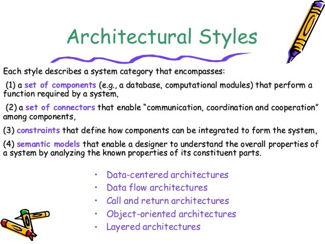 Architecture design in software engineering for Types of architectural styles