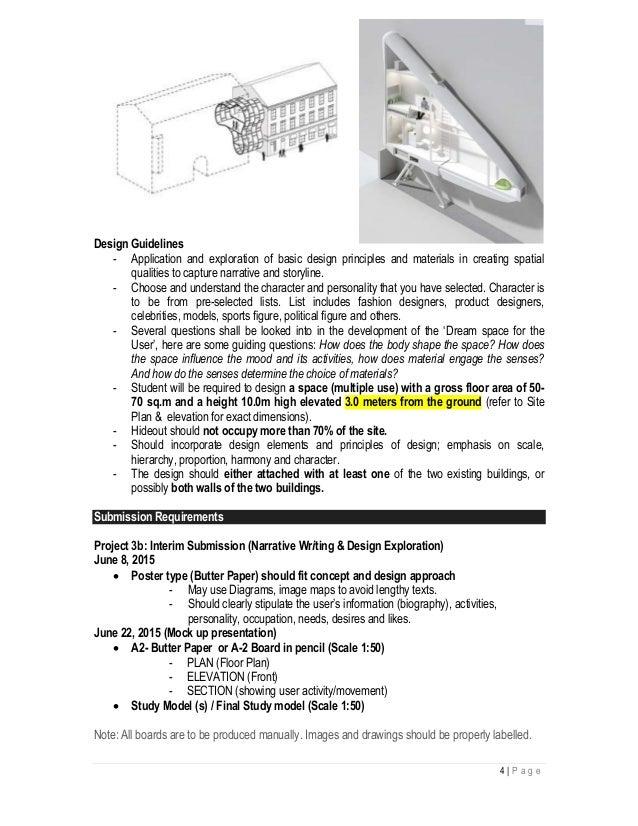 architectural design studio 1.  4 Architecture design studio 1 project 3 brief march 2015