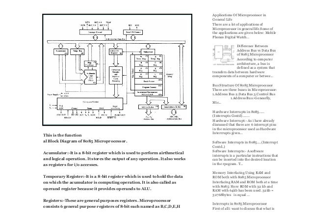 architecture diagram of 8085 microprocessor 8085 microprocessor com u2026