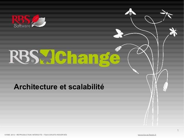 Architecture et scalabilité                                                                                   1© RBS 2012 ...