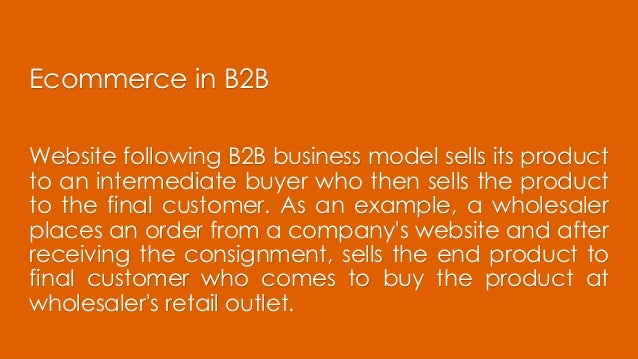 Architecture for B2B models in Ecommerce Slide 2